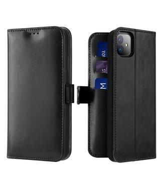 Dux Ducis Lederen Wallet Case voor iPhone 11 6.1 inch- Zwart