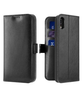 Dux Ducis Lederen Wallet Case voor iPhone XR 6.1 inch- Zwart - Dux Ducis