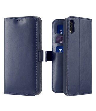 Dux Ducis Lederen Wallet Case voor iPhone XR 6.1 inch- Donkerblauw - Dux Ducis