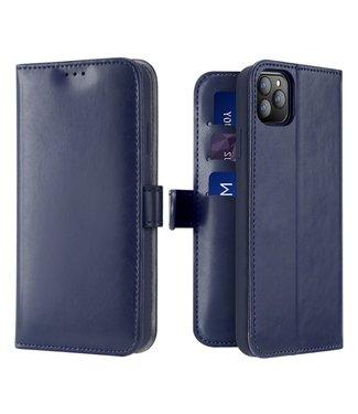 Dux Ducis Lederen Wallet Case voor iPhone 11 Pro 5.8 inch- Blauw