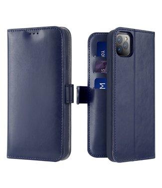 Dux Ducis Lederen Wallet Case voor iPhone 11 Pro Max 6.5 inch- Blauw - Dux Ducis
