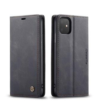 Caseme Lederen Wallet Case met standaard voor iPhone 11 6.1 inch - Zwart