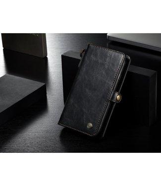 Caseme Leren Wallet + uitneembare Case - iPhone 7/8/SE 2020 - Zwart