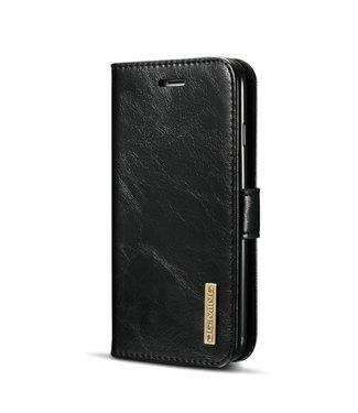 DG-Ming Lederen bookcase met draagkoord voor iPhone 7/8/SE 2020-Zwart -DG ming