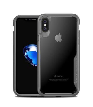 iPaky Hardcase met grijze omranding voor iPhone X/XS - transparant