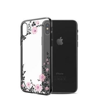 ZWC Kavaro hardcase met diamanten voor iPhone X/XS - transparant