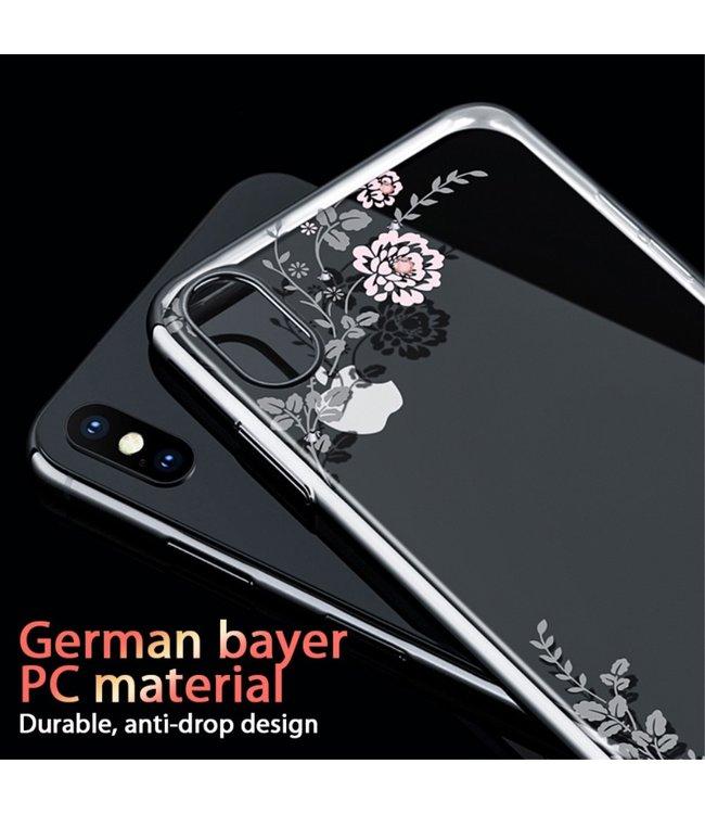 ZWC Kavaro softcase met diamanten voor iPhone XS Max - transparant