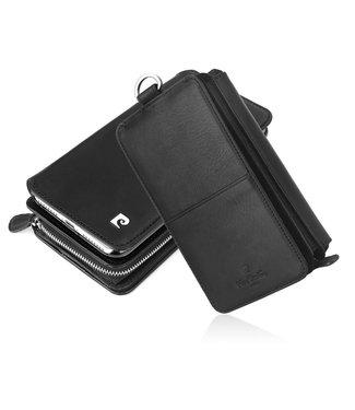 Pierre Cardin Leren Wallet + uitneembare Case - iPhone XR - Zwart - Pierre Cardin