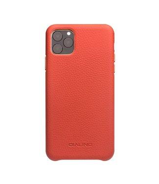 Qialino Lederen backcover voor iPhone 11 Pro - rood