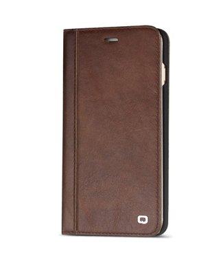 Qialino Lederen bookcase voor iPhone 6 - bruin