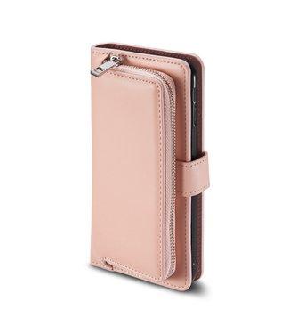 ZWC Leren portemonnee hoes + afzonderlijke case iPhone 11 - LichtRoze