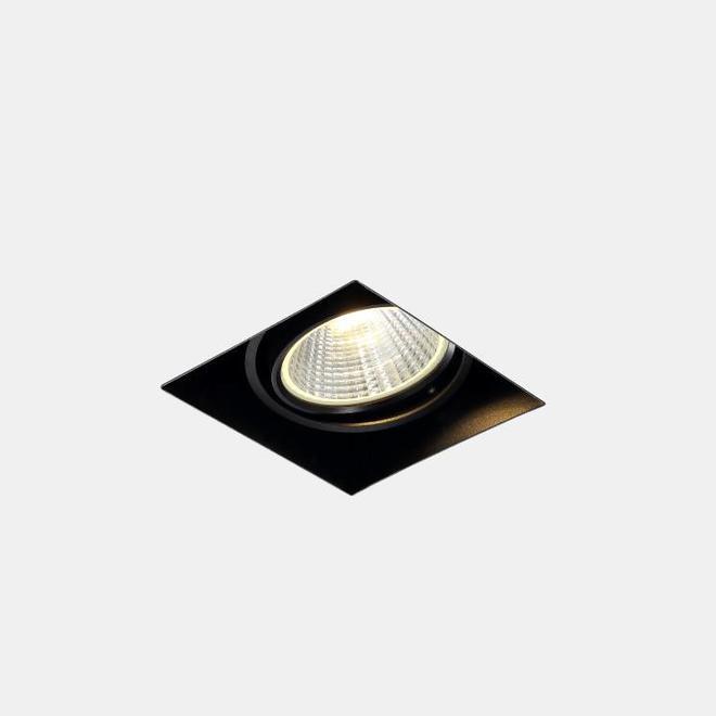 Trimless recessed LED spot BLEND black single