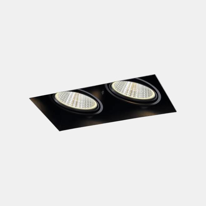 Trimless inbouw LED spot BLEND zwart dubbel