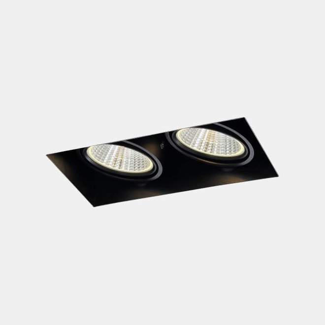 Trimless recessed LED spot BLEND black double