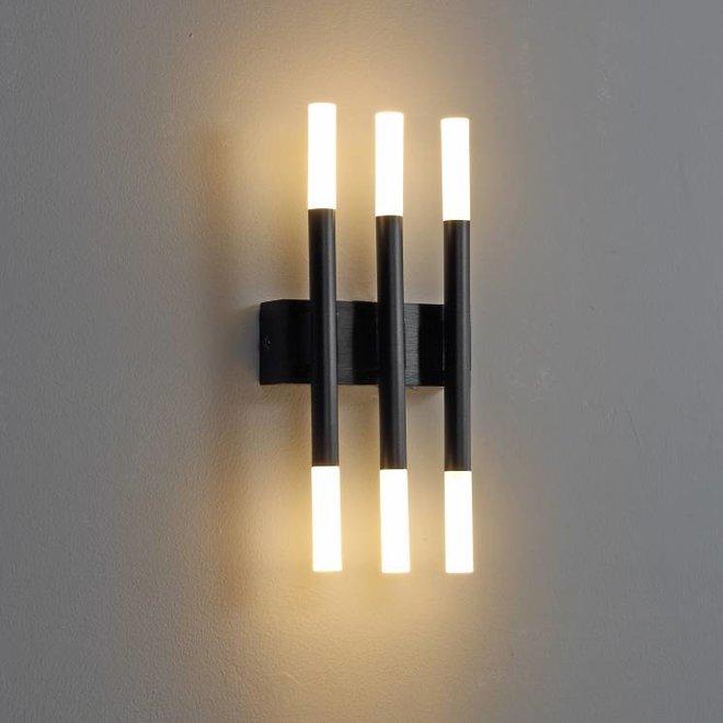 LED Wall light STIXX 3 Black