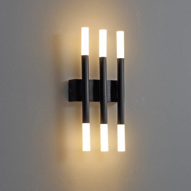 LED Wandlamp  STIXX 3 zwart