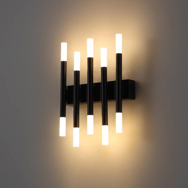 LED Wandlamp  STIXX 5 zwart