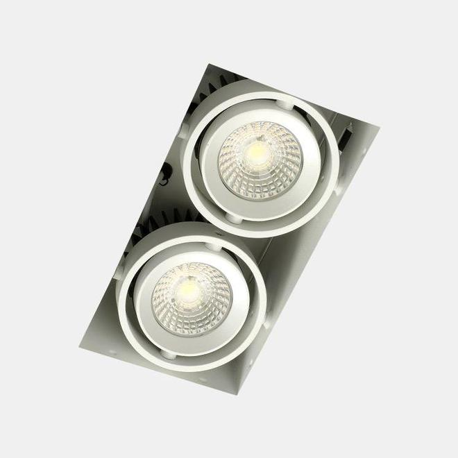 Trimless recessed LED spot BLEND white double