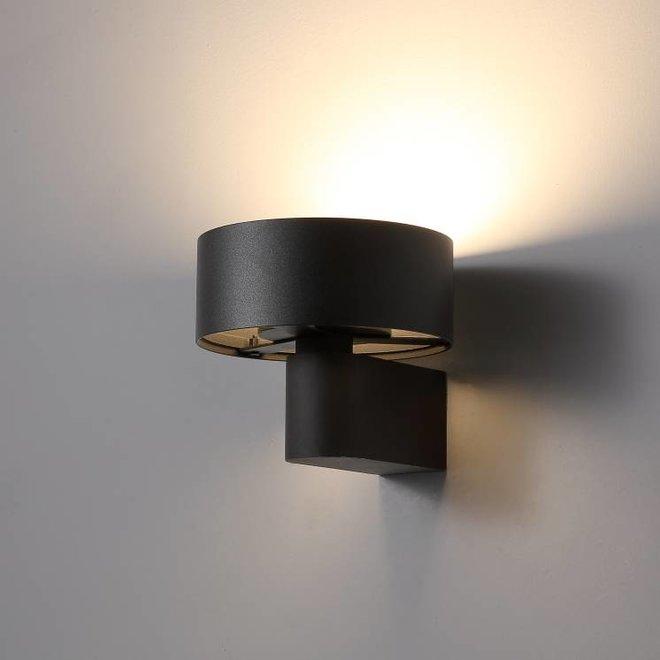 LED wandlamp DISC ø148mm zwart