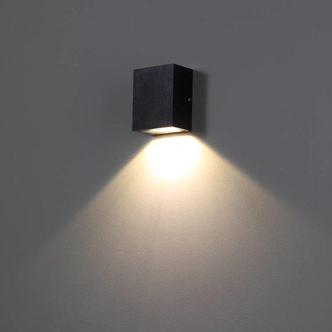 Vierkanten LED buitenwandlamp TREND zwart