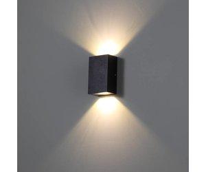 Square Led Outdoor Wall Lamp Trend 2 Black Lightinova Professional Lighting