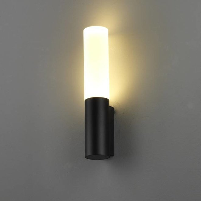 Round LED outdoor wall lamp TORCH  black