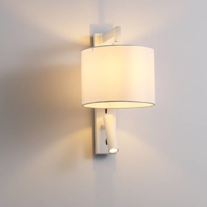 CORA wall lamp with LED reading lamp white