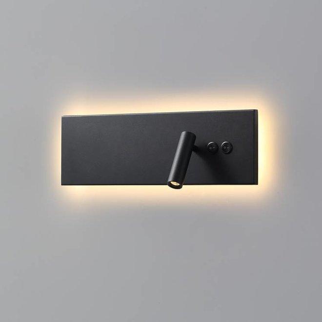 CORA leeslamp met nachtverlichting zwart