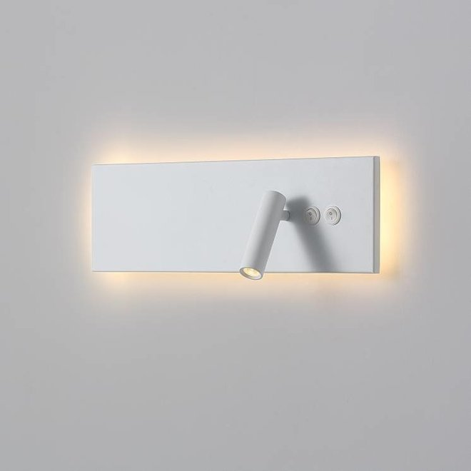 CORA reading lamp with night lighting white
