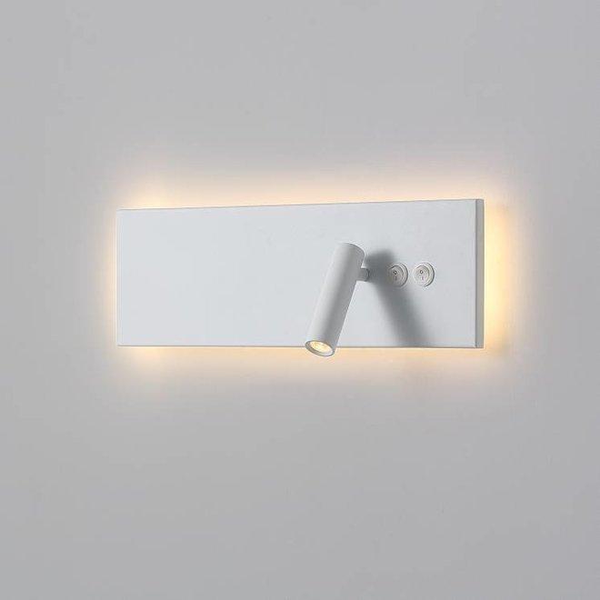 CORA leeslamp met nachtverlichting  wit