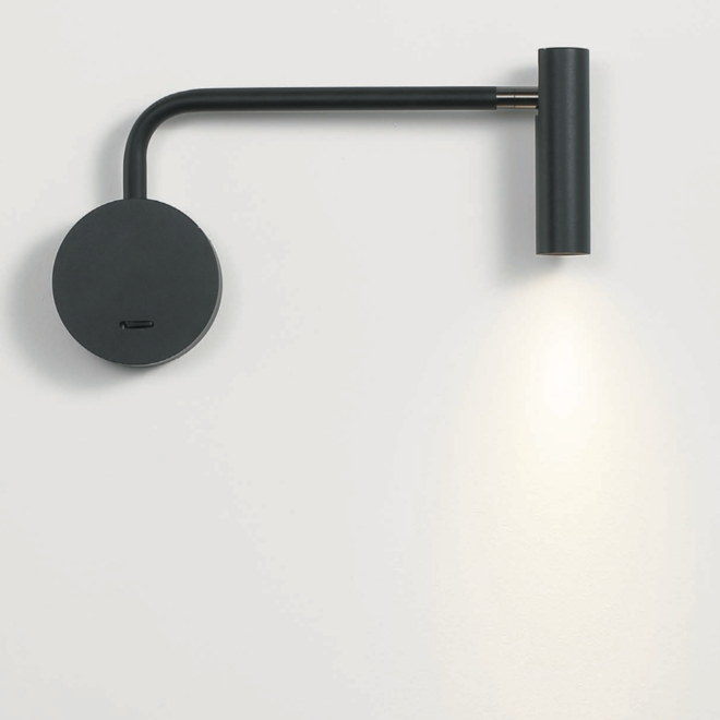 LED ARM reading lamp black