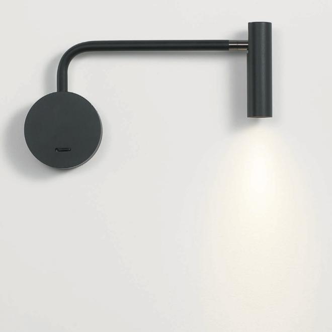 LED ARM leeslamp zwenkbaar - zwart