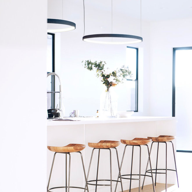 LED ring hanglamp HALO ø920 mm - zwart