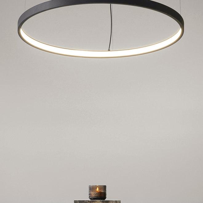 LED pendant lamp HALO single ring black ø790 mm
