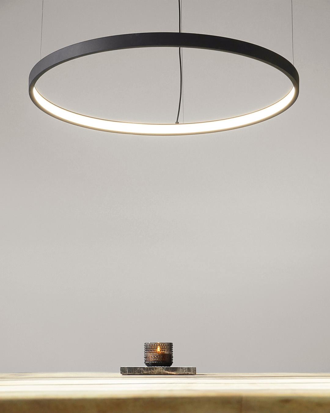 Led Ring Pendant Lamp Halo O790 Mm Black Lightinova Professional Lighting
