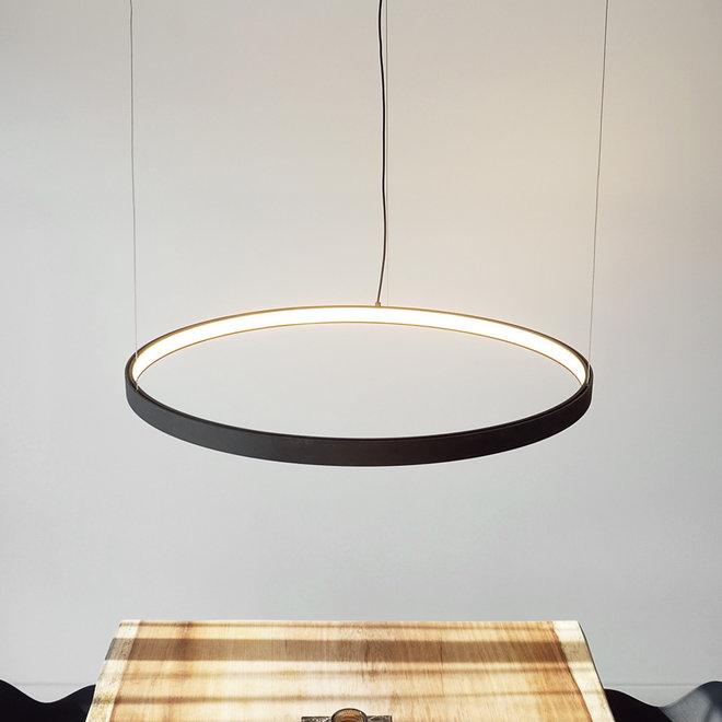 LED hanglamp HALO enkele ring zwart ø659 mm