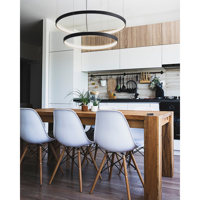 LED pendant lamp HALO single ring black ø659 mm