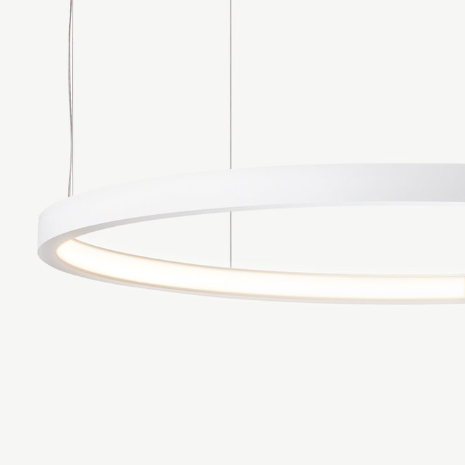 LED ring pendant lamp HALO ø520 mm - white