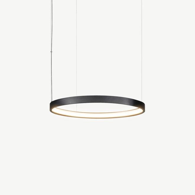 LED ring pendant lamp HALO ø520 mm - black