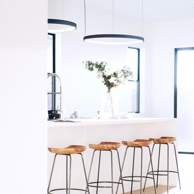 LED ring pendant lamp HALO ø920 mm - white