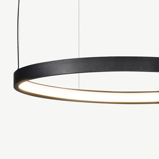 LED ring pendant lamp HALO ø790 mm - black