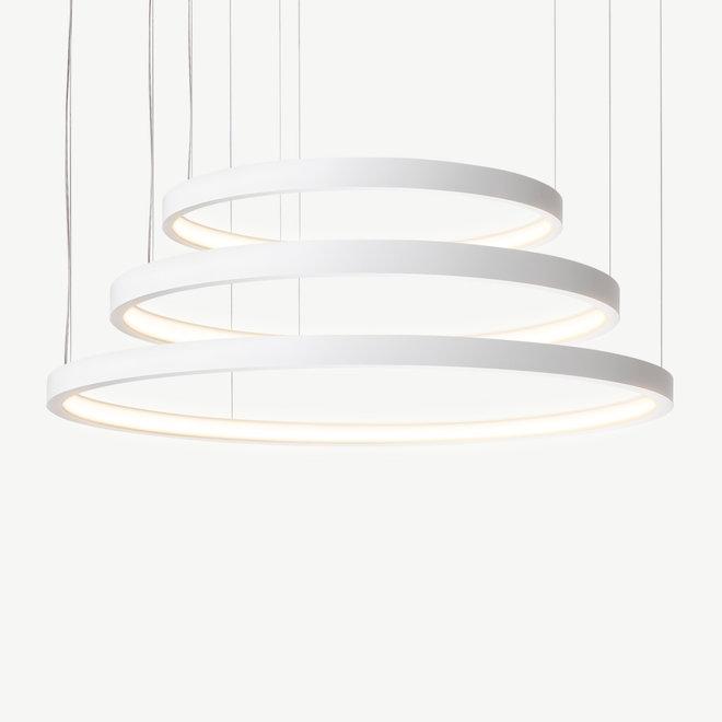 LED 3-ring pendant lamp HALO ø920 mm - white