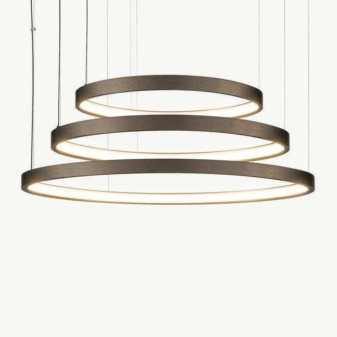 LED 3-ring pendant lamp HALO ø920 mm - bronze