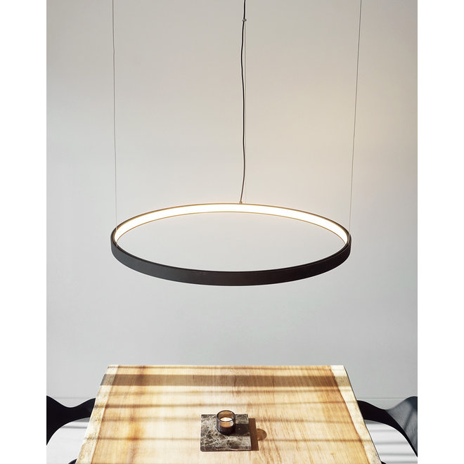 LED ring pendant lamp HALO ø1200 mm - black