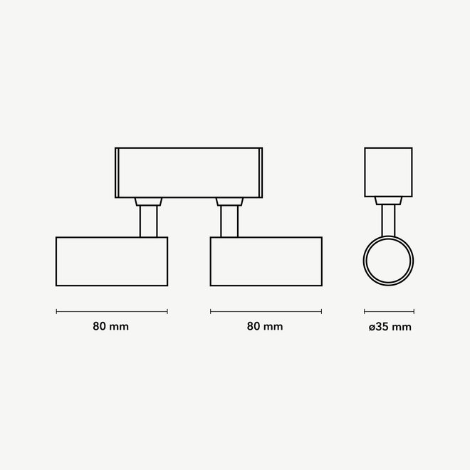 CLIXX magnetisch rail verlichtingssysteem - SPOT35D LED module - zwart