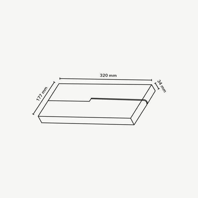 CLIXX magnetic track light system - FOLD32 LINE LED module - black