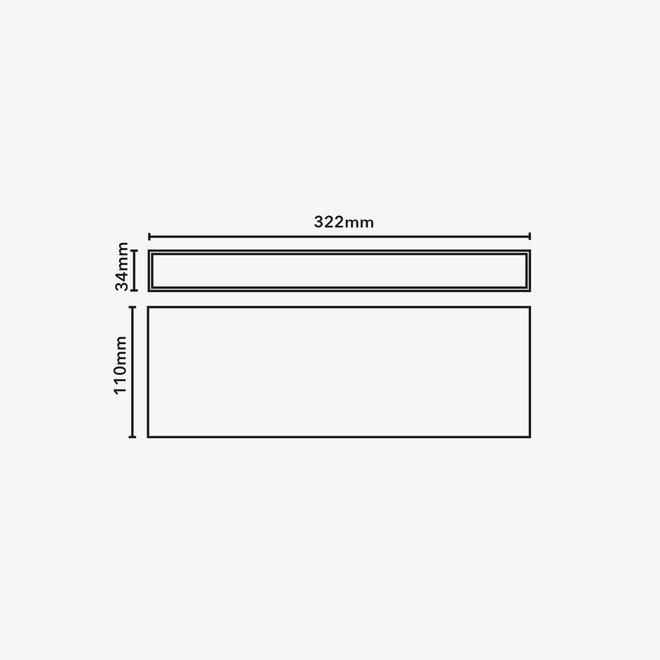 CLIXX magnetisch rail verlichtingssysteem - OUT32 LED module  - zwart
