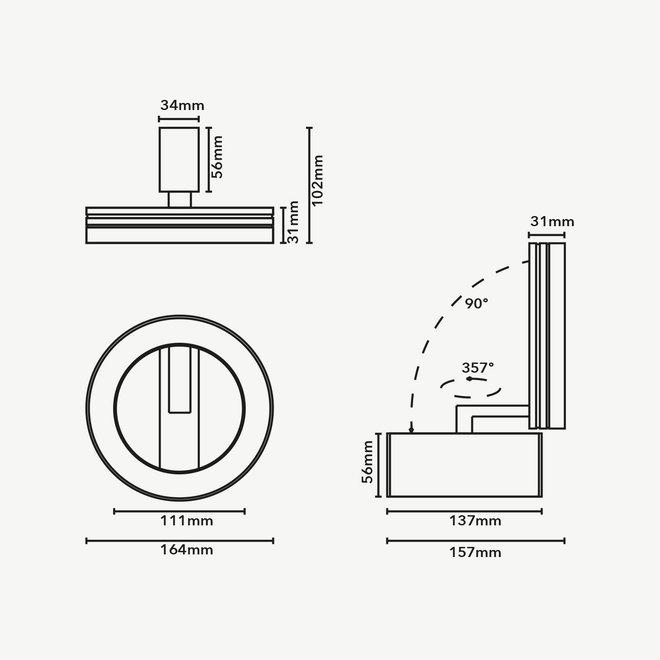 CLIXX magnetisch rail verlichtingssysteem - HALO LED module  - zwart