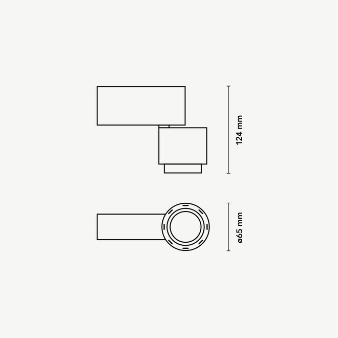 CLIXX magnetic track light system - SPOT65 LED module - white