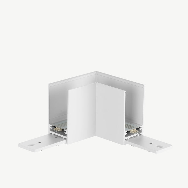 CLIXX magnetic track light system - surface/pendant 90° corner connection - white
